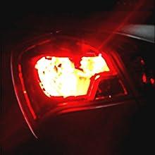 Alla Lighting 7440 7443 LED Strobe Brake Lights Bulbs Super Bright W21W T20  Wedge High Power 2835 SMD 12V Flashing Strobe Stop Lights Replacement for