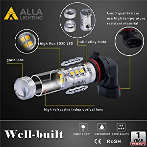 Features of Best H8 H16 H11 LED Amber Yellow Fog Lights Bulbs DRL