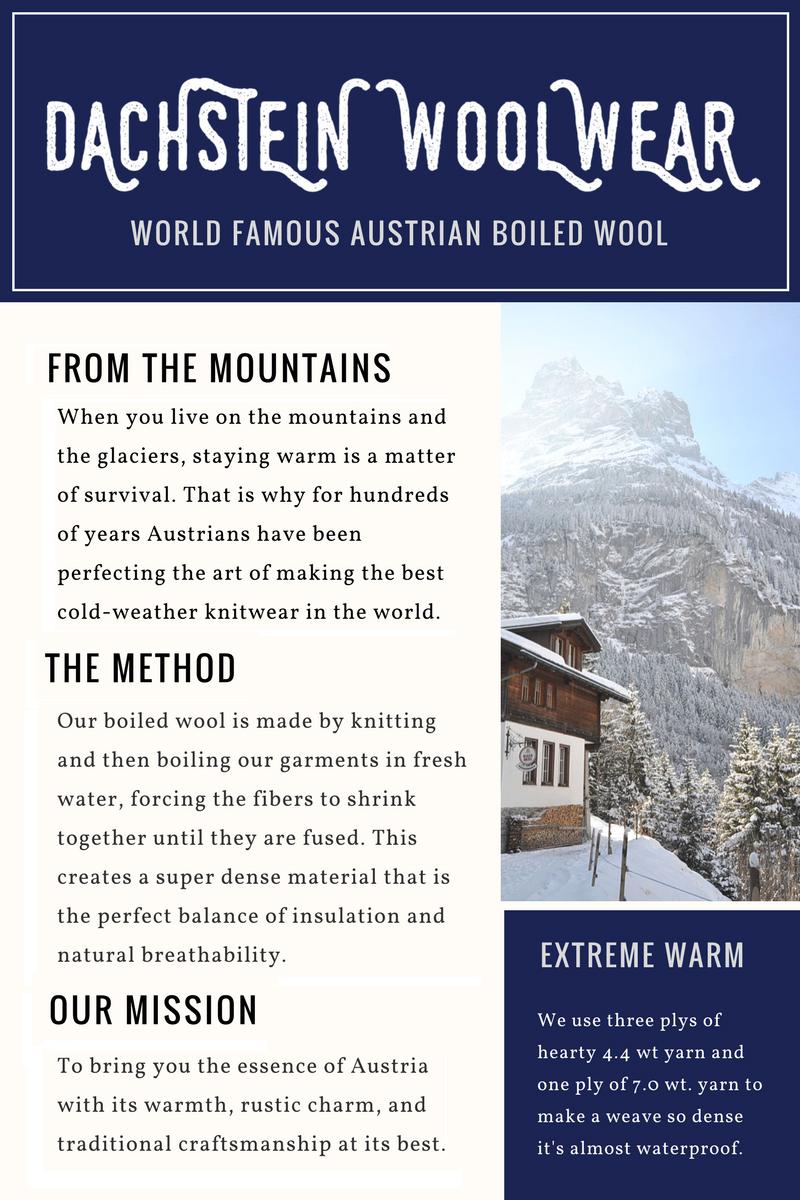 99ba218f081 Dachstein Woolwear 4 Ply Extreme Warm 100% Austrian Boiled Wool ...