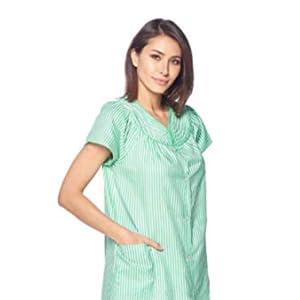 House Dress, short sleeves robe, lounge robe, woven robe, casual robe, housecoat
