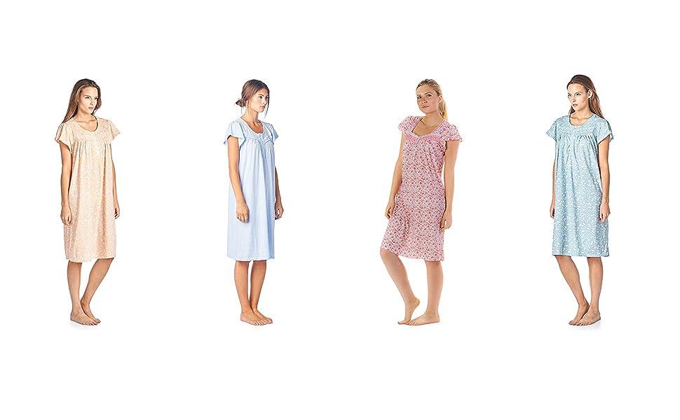 full slip night gown dress nightgown for women flannel nightwgown women