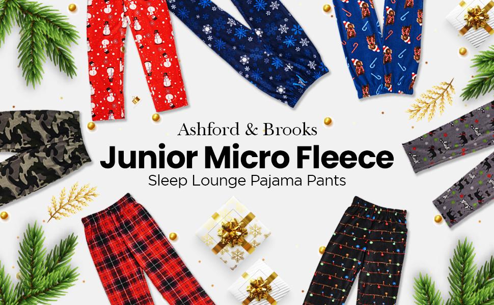 Ashford /& Brooks Junior Micro Fleece Sleep Lounge Pajama Pants