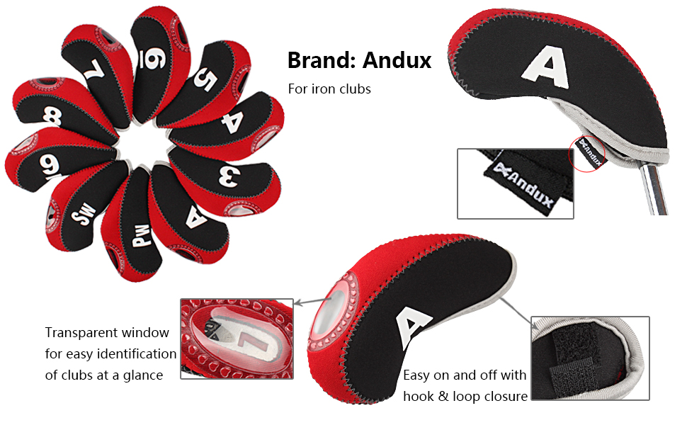 Amazon.com: Andux - Juego de 10 fundas para cabezas de palos ...