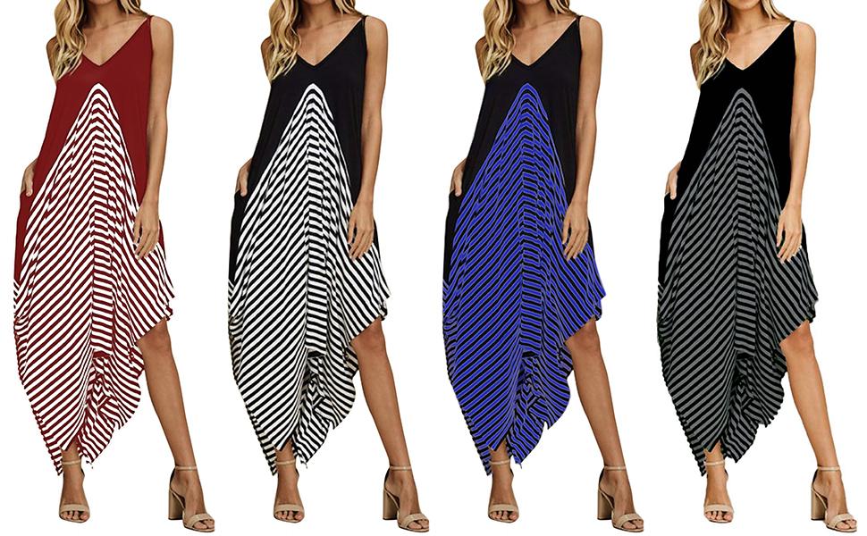 Amazon.com: Style Dome - Vestido largo de verano para mujer ...
