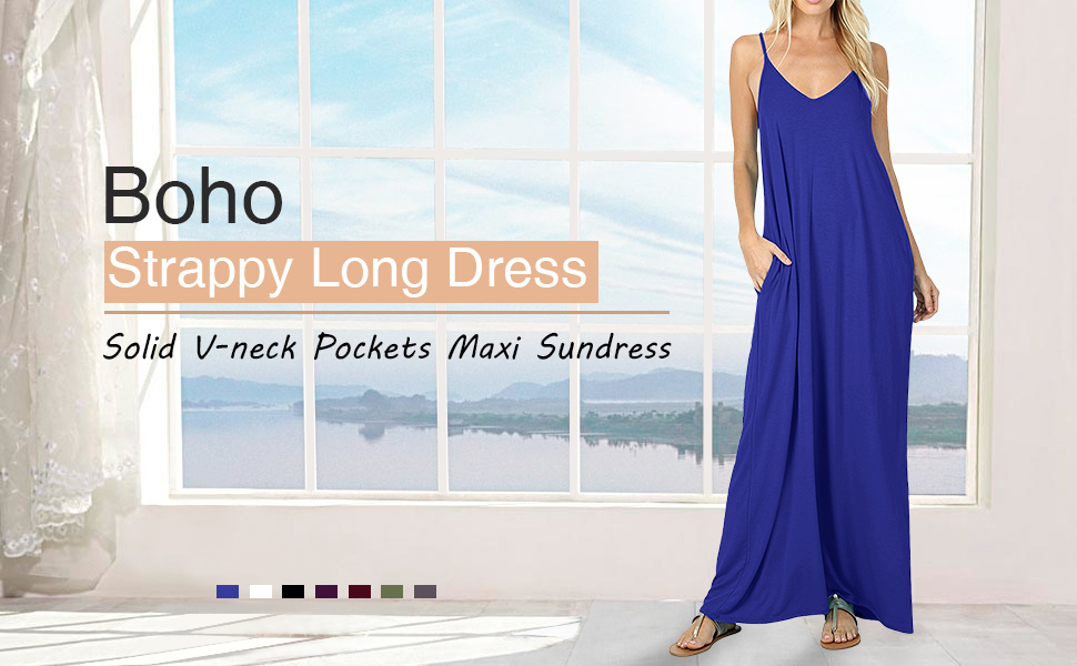 ddfc015ea81a StyleDome Women's Summer Casual Plain V-Neck Flowy Loose Beach Cami ...