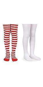 d8abd62b840 ... Jefferies Socks Girls Fashion Stripe Solid Nylon Wacky Wednesday  Reading Day Book Costume Tights · Jefferies Socks Girls Red and White ...