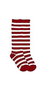 a230be6bffb Jefferies Socks Girls Fashion Striped Wacky Wednesday Reading Day Costume  Knee High Socks 1 Pair ...