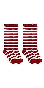 c536b756c76 ... Jefferies Socks Girls Fashion Striped Wacky Wednesday Reading Day Knee  High Socks 2 Pair Pack ...