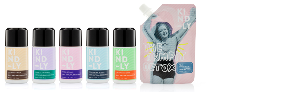 kindly natural deodorant and the armpit detox product group