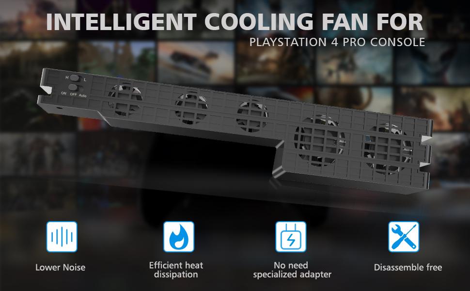 Amazon.com: OIVO PS4 Pro Cooler - Ventilador externo USB de ...