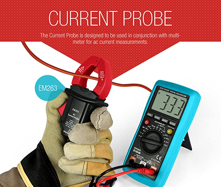 Current Probe For Multimeter : Amazon all sun cat iii ac current probe working with