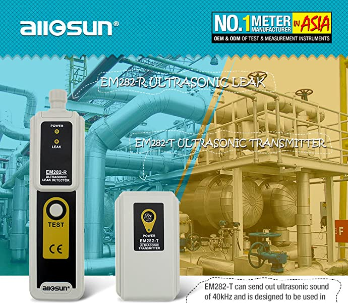 Amazon.com: all-sun, kit con detector de fugas ultrasó ...