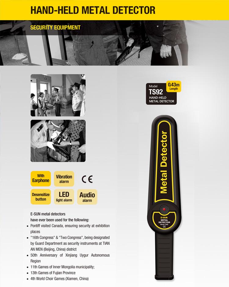 Wide Application of all-sun Handheld Metal Detector