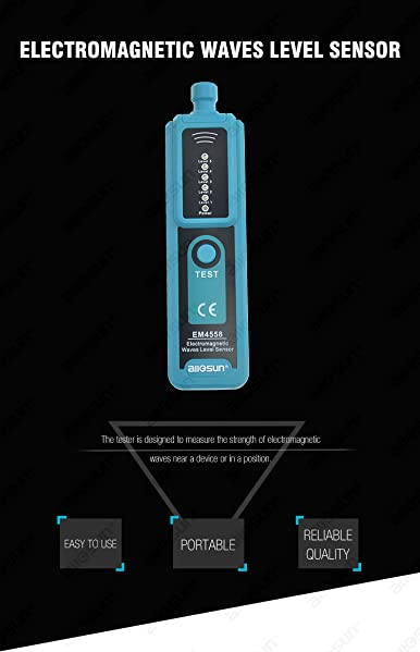 EM4558 Electromagnetic Waves Level Sensor Accuracy Electromagnetic Wave Strength Tester Protable Electromagnetic Sensor