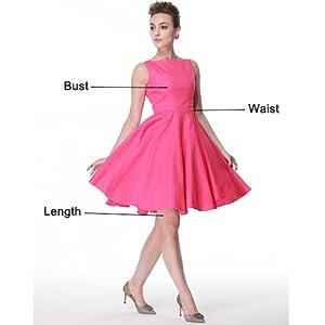 bf955c3bb6 Heroecol Vintage 1950s 50s Dress Audrey Hepburn Style Retro ...