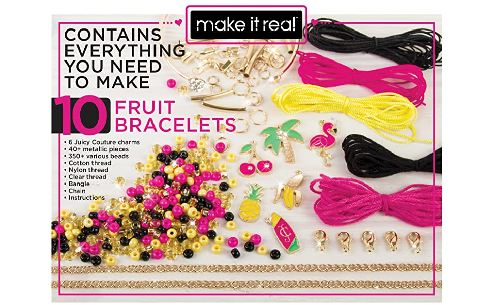 make it real juicy couture fruit obsessions bracelets diy bracelet kit girls girl tween kids charms