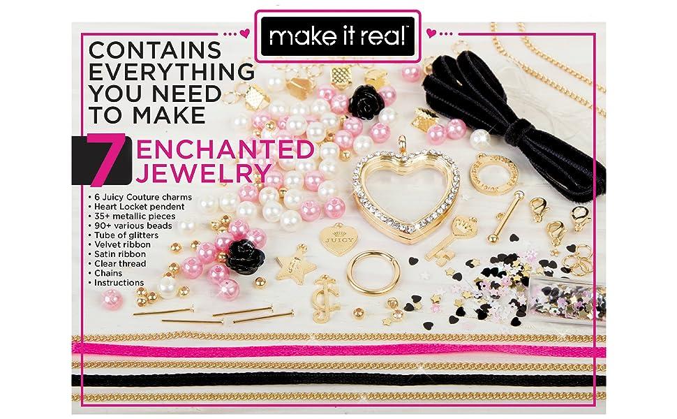 Girls Jewelry Bracelet Necklace DIY Craft Making Kit Beads Feet Box+FREE GIFT UK