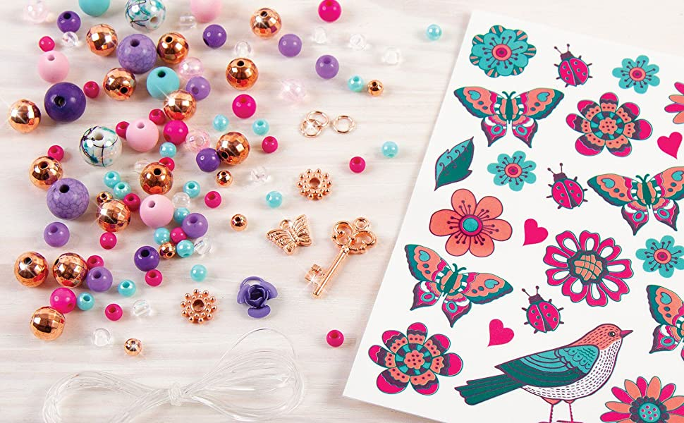Make It Real – Bedazzled! Charm Bracelets - Blooming Creativity. DIY Charm Bracelet Making Kit for Girls. Arts and Crafts Kit to Create Unique Tween ...