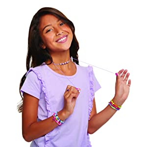 Necklaces Ultimate Bead Studio Rings and Headbands Arts and Crafts Kit Guides Kids to Design and Create Beautiful Bracelets DIY Tween Girls Beaded Jewelry Making Kit Make It Real