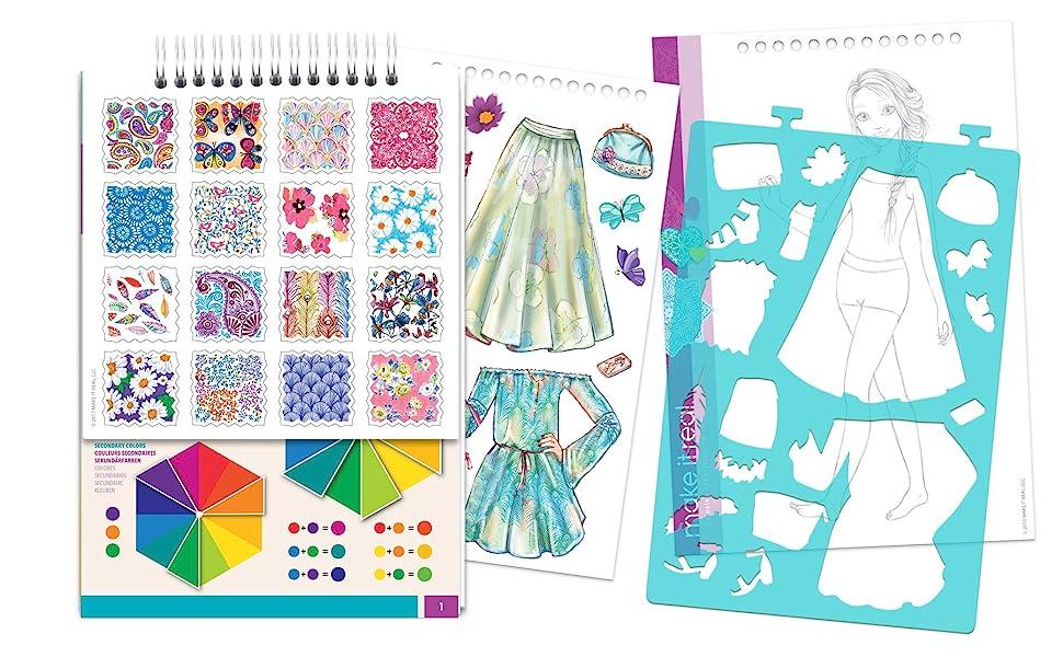 Amazon.com: Make It Real – Fashion Design Sketchbook: Blooming ...