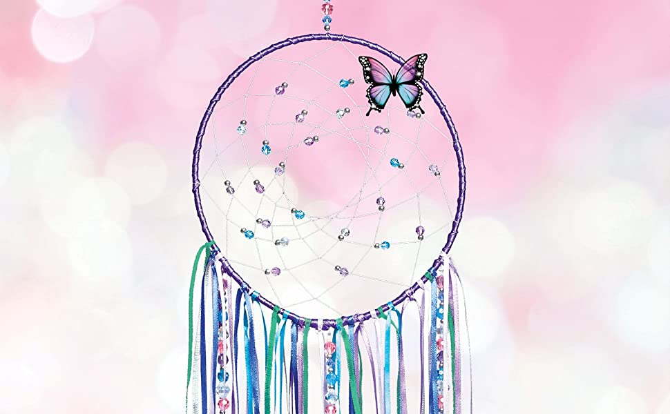 Make It Real Diy Dreamcatcher Make Your Own Dream Catcher Arts And Crafts Kit For Tween Girls Includes Dream Catcher Hoop Strings And Ribbons