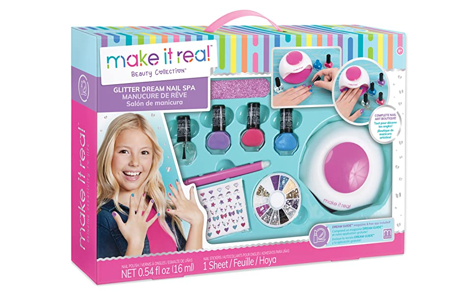 Amazon.com: Make It Real - Glitter Dream Nail Spa. Nail Art Manicure ...