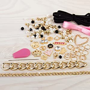 Make it real juicy couture chains charms bracelet kit diy kids girl girls tween making bracelets