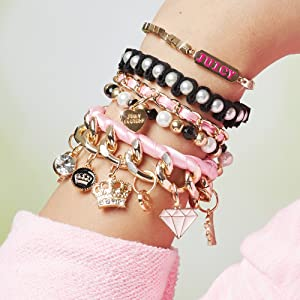 Make It Real – Juicy Couture Chains & Charms. DIY Charm Bracelet Making Kit for Girls