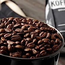 whole dark roast coffee beans