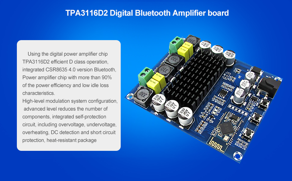 Product name:TPA3116D2 Digital audio amplifier
