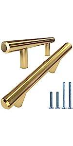 Gold Brass Tbar