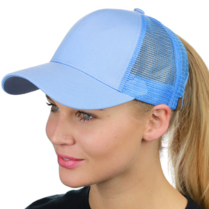 FGSS Ponycap Messy High Bun Ponytail Adjustable Cotton Baseball Cap Hat