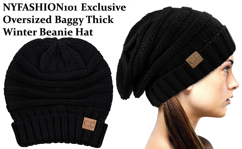 49d6a6f1bee NYFASHION101 Oversized Baggy Slouchy Thick Winter Beanie Hat