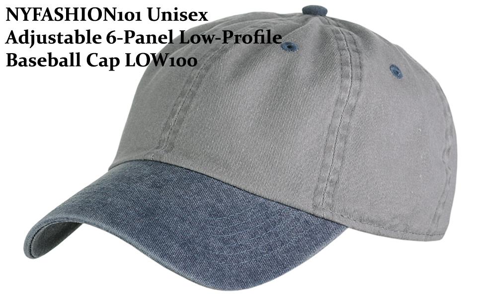 NYFASHION101 Unisex Adjustable 6-Panel Low-Profile Baseball Cap LOW100 9bf5b550b966
