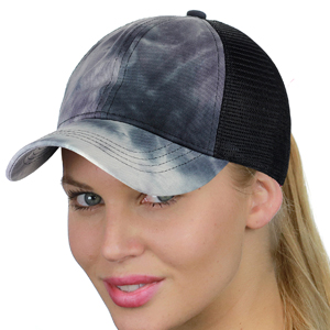 8830d44e4 CC Ponycap Messy High Bun Ponytail Adjustable Mesh Trucker Baseball Cap Hat