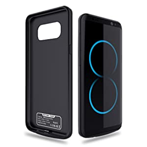 Elebase Galaxy S8 Plus Battery Case,5500mAh Portable External Backup Charging Case,Rechargeable Impact Resistant Extended Power Charger for Samsung ...