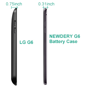 cheap for discount cae98 ee7d1 Newdery LG G6 Battery Case 5000mAh, LG G6 G6 Plus G6 Duo Portable Extended  Charger Case, Rechargeable Power Bank Charging Cover with USB - C Input ...