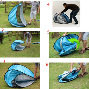 please follow the photos show and the step 5 please take the last eage inside if you still confused ask our seller the vedio how to put up.  sc 1 st  Amazon.com & Amazon.com: RIJER Portable Pop Up Tent Instant Cabana UV ...