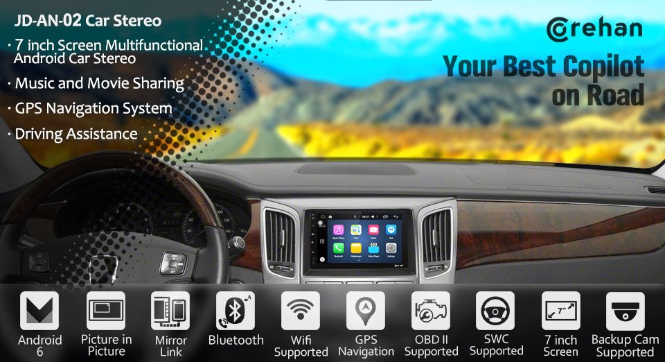 amazon com android 6 touch screen car stereo corehan 7 inch rh amazon com Car Audio Speakers Car Auido