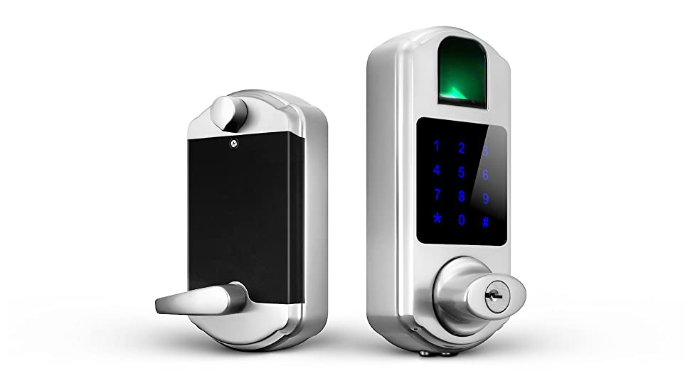 Amazon Com Scyan D5 Keyless Keypad Fingerprint Deadbolt