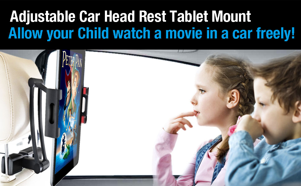 car head rest tablet mount