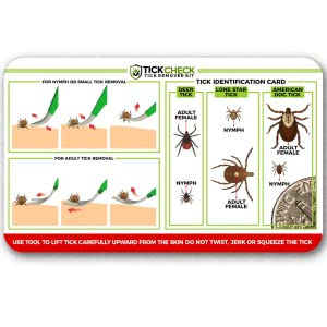 Includes FREE tick identification reference card