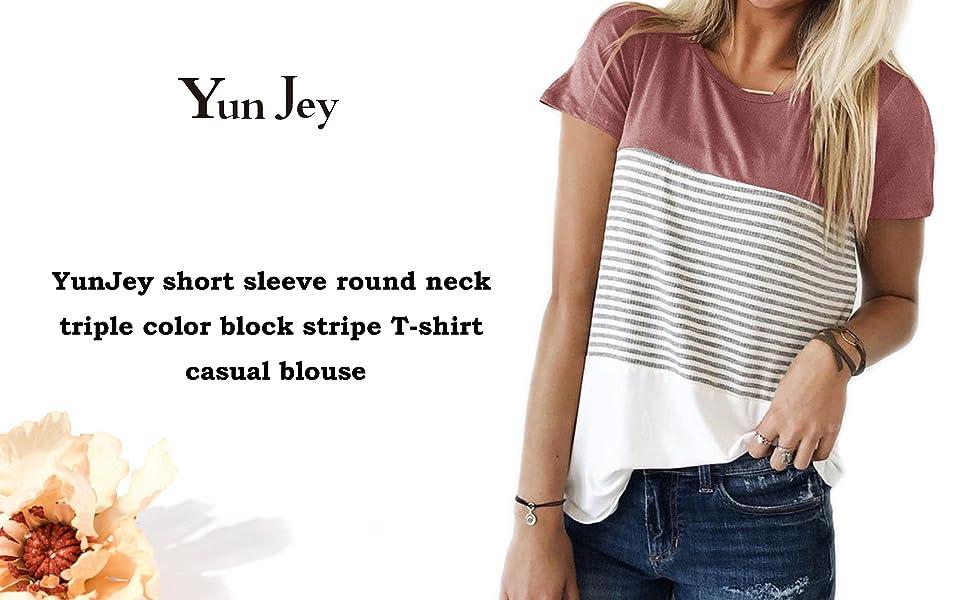 Purple Casual Women/'s clothing Striped Panel Twist Plus Size T-Shirt