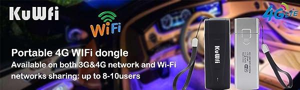 KuWFi portable 4G wifi dongle USB