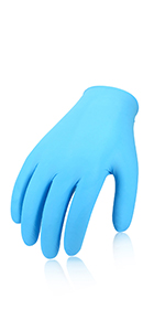 Vgo 200PCS Industrial Latex Disposable Gloves Powdered Non-Sterile Textured Good for Painting and Finishing Services Size L, White, RB0001