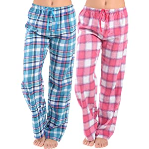 Womens Super Soft Flannel Plaid Pajama Pants-2 Pack at Amazon ... a06166905