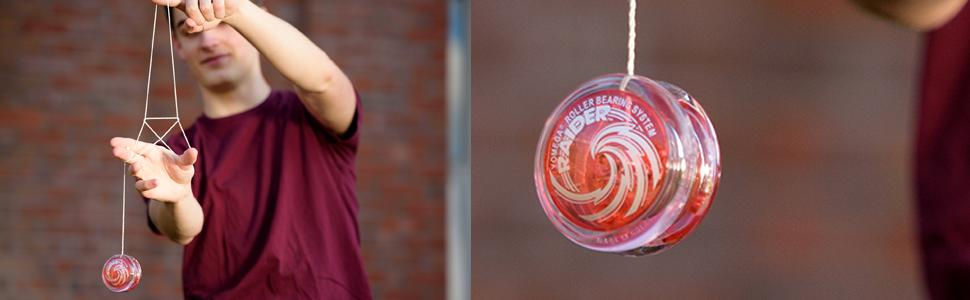yomega raider spinner yoyo responisve transaxle looping bearing fidget stress relief  professional