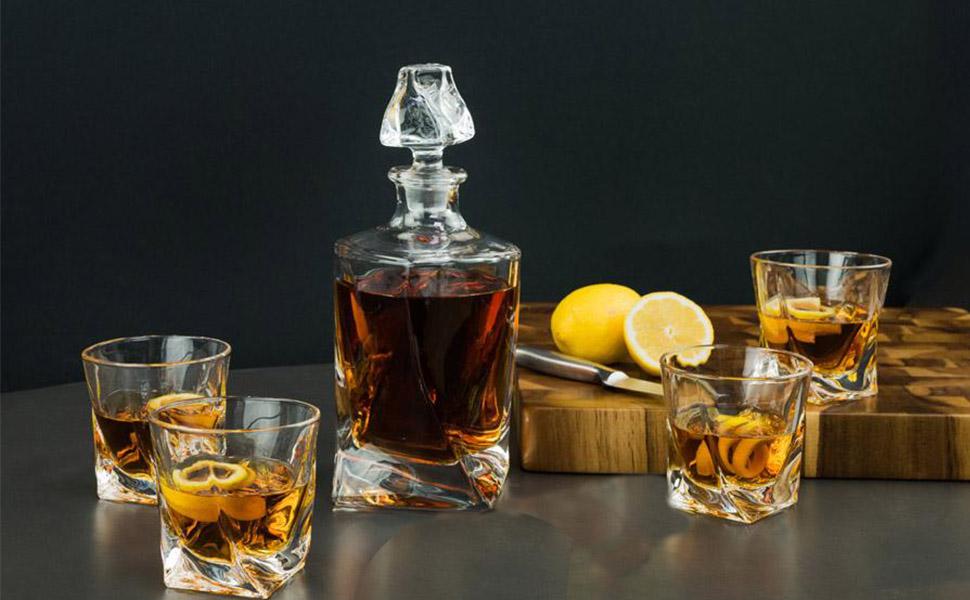 Twist Design Whiskey Glasses