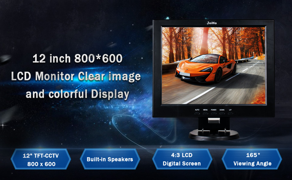 JaiHo LCD Monitor Clear image and colorful display,