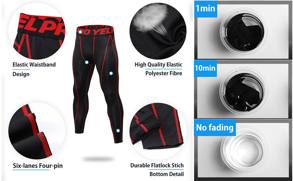 High-Elastic: 4 way Stretch high-performance fabric Compression high-elastic